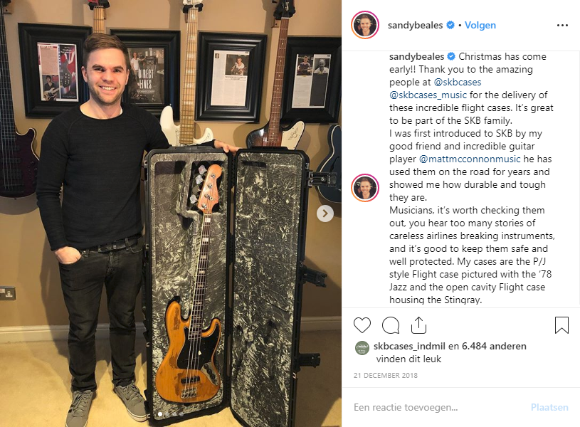 Sandy Beales SKB instagram post