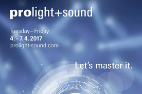 Visit us at ProLight+Sound 2017