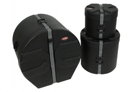 SKB Drum Cases in the lift